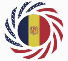 Andorran American Multinational Patriot Flag Series by Carbon-Fibre Media