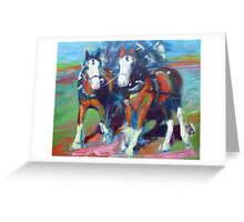 The leaders, two draft horses Greeting Card