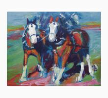 The leaders, two draft horses T-Shirt