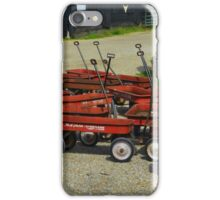 Little Red Wagons iPhone Case/Skin