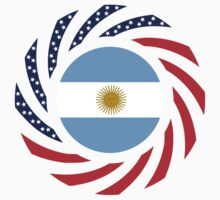 Argentinian American Multinational Patriot Flag Series by Carbon-Fibre Media