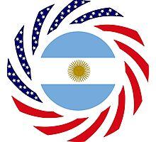 Argentinian American Multinational Patriot Flag Series Photographic Print