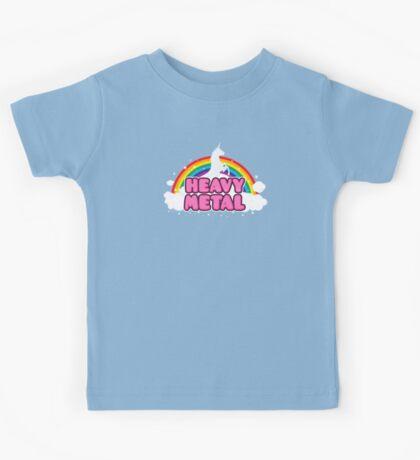 HEAVY METAL! (Funny Unicorn / Rainbow Mosh Parody Design) Kids Tee