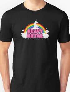 HEAVY METAL! (Funny Unicorn / Rainbow Mosh Parody Design) T-Shirt