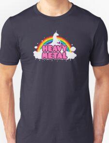 HEAVY METAL! (Funny Unicorn / Rainbow Mosh Parody Design) Unisex T-Shirt