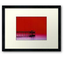 Red Sky Delight Framed Print