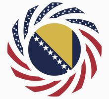 Bosnian American Multinational Patriot Flag Series by Carbon-Fibre Media