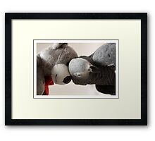 I love my bear. Framed Print