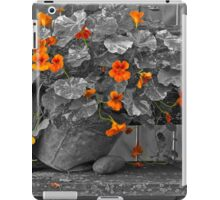 Nasturtiums In The Breeze - Selective Color iPad Case/Skin