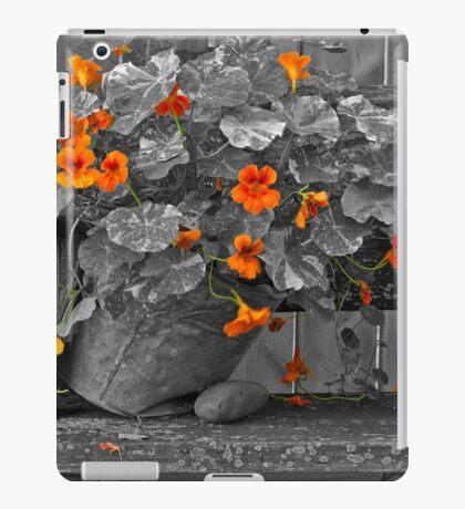 Nasturtiums In The Breeze - Selective Color iPad Case/Skin