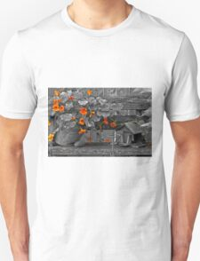 Nasturtiums In The Breeze - Selective Color T-Shirt