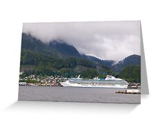 Coral Princess, Cruise Liner, Ketchikan, Alaska 2012. Greeting Card