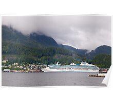 Coral Princess, Cruise Liner, Ketchikan, Alaska 2012. Poster