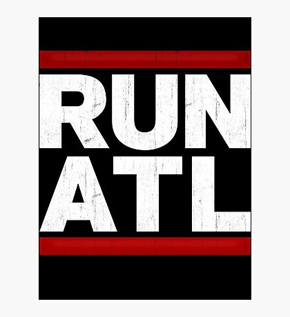 RUN ATL - Atlanta NBA Photographic Print
