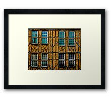 Facade in Troyes Framed Print