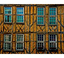 Facade in Troyes Photographic Print