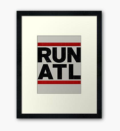 RUN ATL - Atlanta NBA Framed Print
