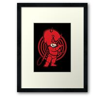 Blind Red Devil Framed Print