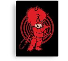 Blind Red Devil Canvas Print