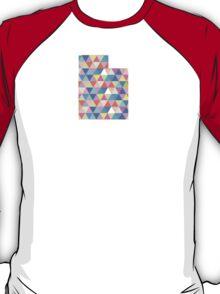 Utah Colorful Triangles Geometric Hipster Utah State T-Shirt