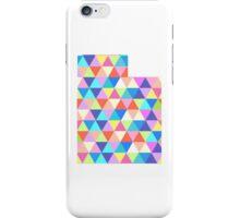 Utah Colorful Triangles Geometric Hipster Utah State iPhone Case/Skin