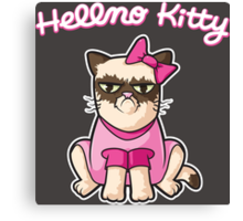 Hellno Kitty Canvas Print