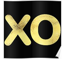 Golden Letter series x & o (hugs and kisses)  Poster
