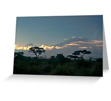 Mt Kilimanjaro Greeting Card