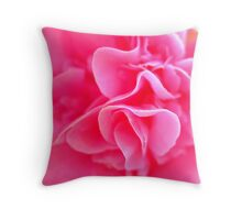 close up camellia Throw Pillow