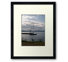 Watching the Sun Go down Framed Print
