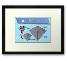 Kite design Framed Print