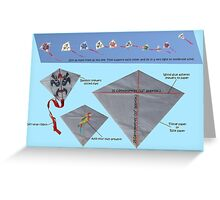 Kite design Greeting Card