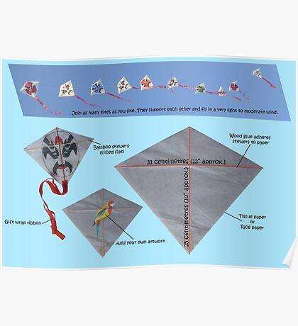 Kite design Poster