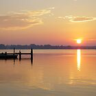 Sun rising on Gwynn's Island, Virginia by Timothy Gass