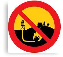 No Fracking Canvas Print