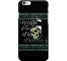 SKELETON BODY AND BLOOD iPhone Case/Skin