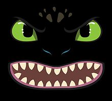 Toothless Face by Kurium