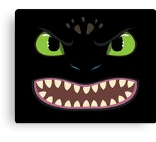 Toothless Face Canvas Print