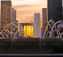 Fountains at Sunset by Steve Rhodes