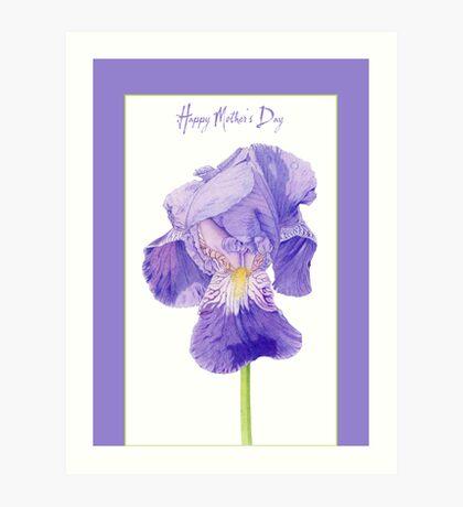 Purple Iris Mother's Day Art Print