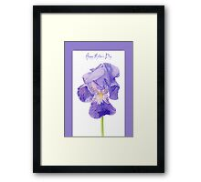 Purple Iris Mother's Day Framed Print