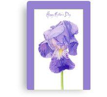 Purple Iris Mother's Day Canvas Print