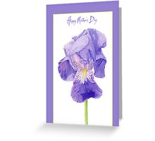 Purple Iris Mother's Day Greeting Card