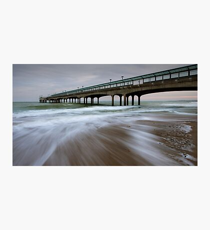 days end at boscombe pier... Photographic Print