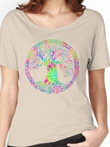 TREE OF LIFE - tie dye Women's Relaxed Fit T-Shirt