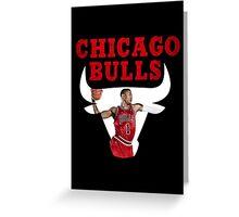 Chicago Bulls, Derrick Rose Greeting Card