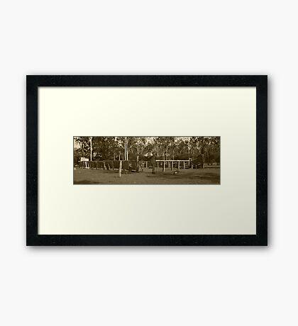 Antique stockyards Framed Print