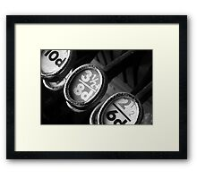 Old Cash Register Keys Framed Print