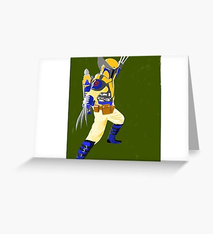 Wolverine Boba Fette Greeting Card