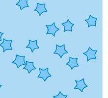 Different Shades Of Blue Stars by elizabethgoodin
